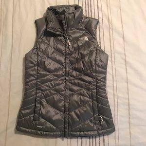 Genuine North Face Silver Vest, Great Condition!